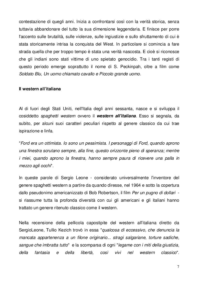 Anteprima della tesi: Nel dubbio, fate uno spaghetti western: l'italianità di un genere, Pagina 5