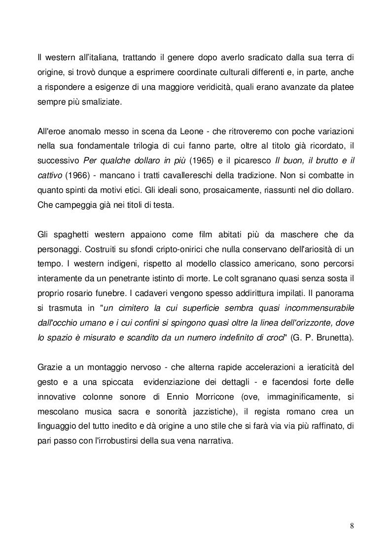 Anteprima della tesi: Nel dubbio, fate uno spaghetti western: l'italianità di un genere, Pagina 6