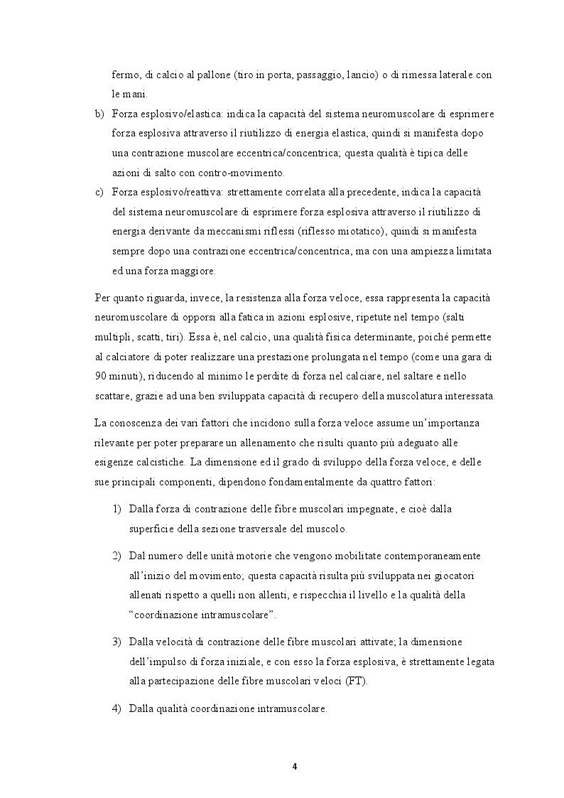 Anteprima della tesi: La forza rapida: aspetti anatomo-fisiologici e metodologie di allenamento specifiche per il calciatore moderno, Pagina 3
