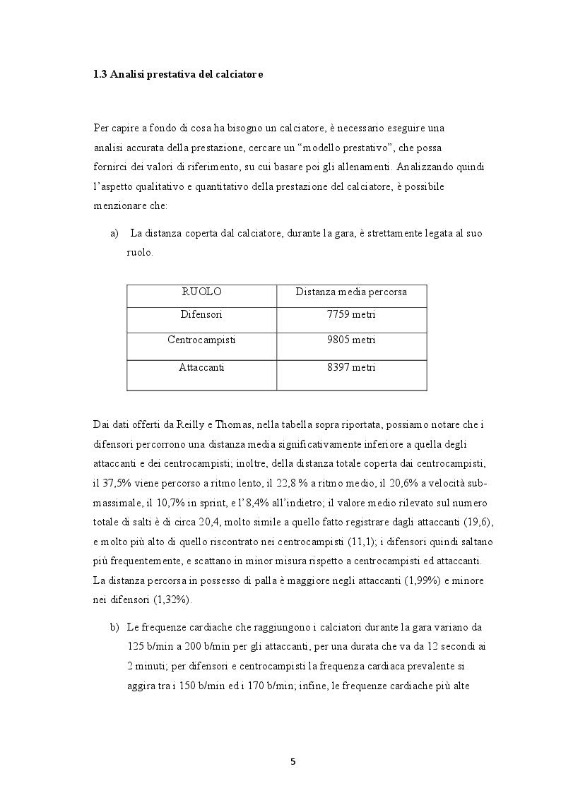 Anteprima della tesi: La forza rapida: aspetti anatomo-fisiologici e metodologie di allenamento specifiche per il calciatore moderno, Pagina 4