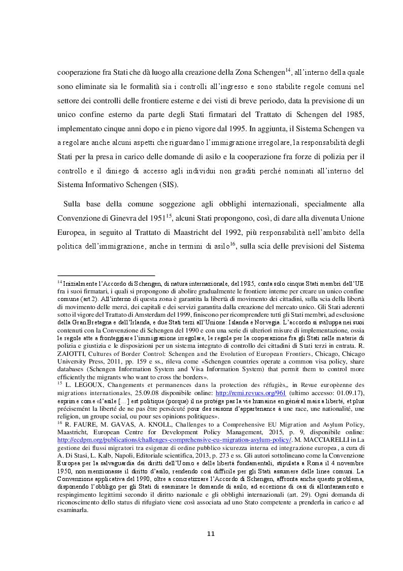 Estratto dalla tesi: Il Friuli Venezia Giulia e l'attuazione della normativa dell'UE in tema di accoglienza ed integrazione dei migranti, alla luce della ripartizione delle competenze tra Stato e Regioni