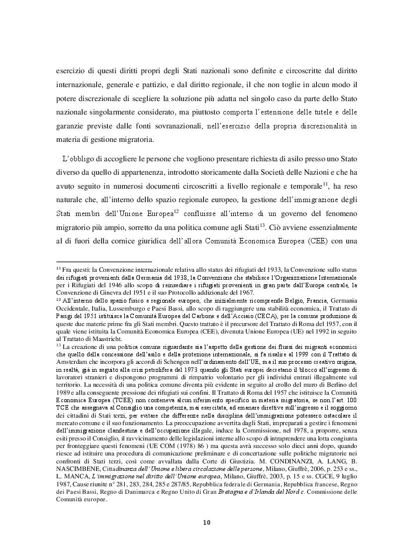 Anteprima della tesi: Il Friuli Venezia Giulia e l'attuazione della normativa dell'UE in tema di accoglienza ed integrazione dei migranti, alla luce della ripartizione delle competenze tra Stato e Regioni, Pagina 11