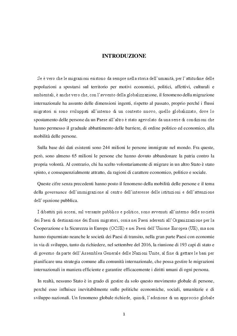Anteprima della tesi: Il Friuli Venezia Giulia e l'attuazione della normativa dell'UE in tema di accoglienza ed integrazione dei migranti, alla luce della ripartizione delle competenze tra Stato e Regioni, Pagina 2