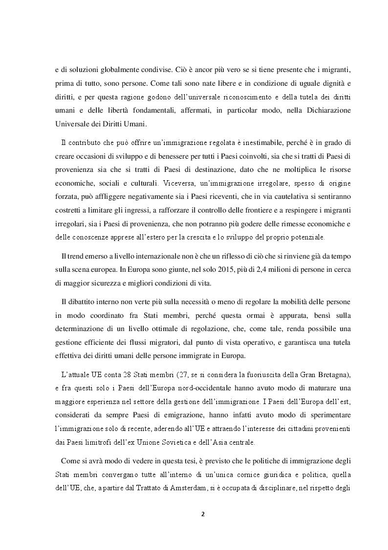 Anteprima della tesi: Il Friuli Venezia Giulia e l'attuazione della normativa dell'UE in tema di accoglienza ed integrazione dei migranti, alla luce della ripartizione delle competenze tra Stato e Regioni, Pagina 3