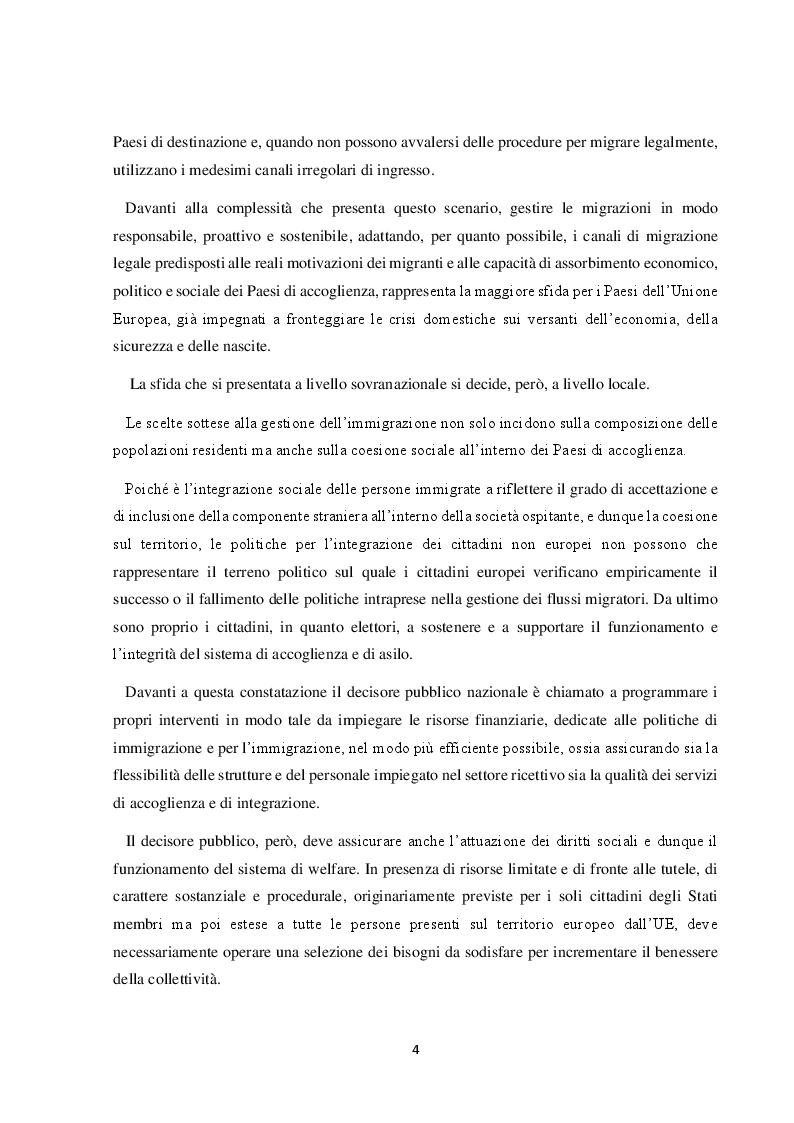 Anteprima della tesi: Il Friuli Venezia Giulia e l'attuazione della normativa dell'UE in tema di accoglienza ed integrazione dei migranti, alla luce della ripartizione delle competenze tra Stato e Regioni, Pagina 5