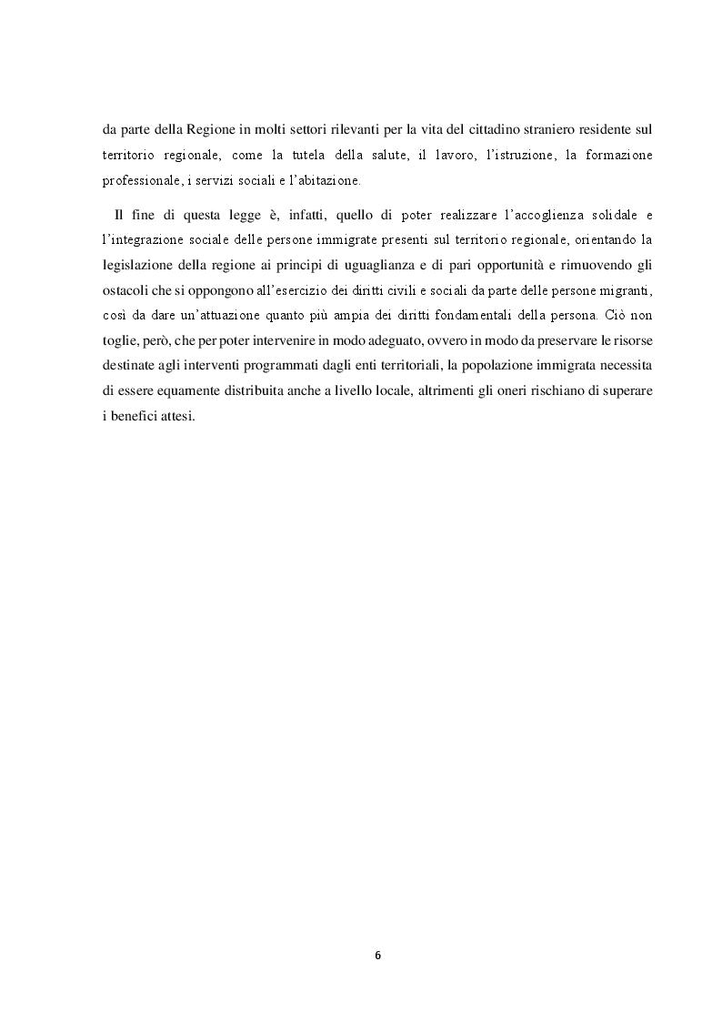 Anteprima della tesi: Il Friuli Venezia Giulia e l'attuazione della normativa dell'UE in tema di accoglienza ed integrazione dei migranti, alla luce della ripartizione delle competenze tra Stato e Regioni, Pagina 7