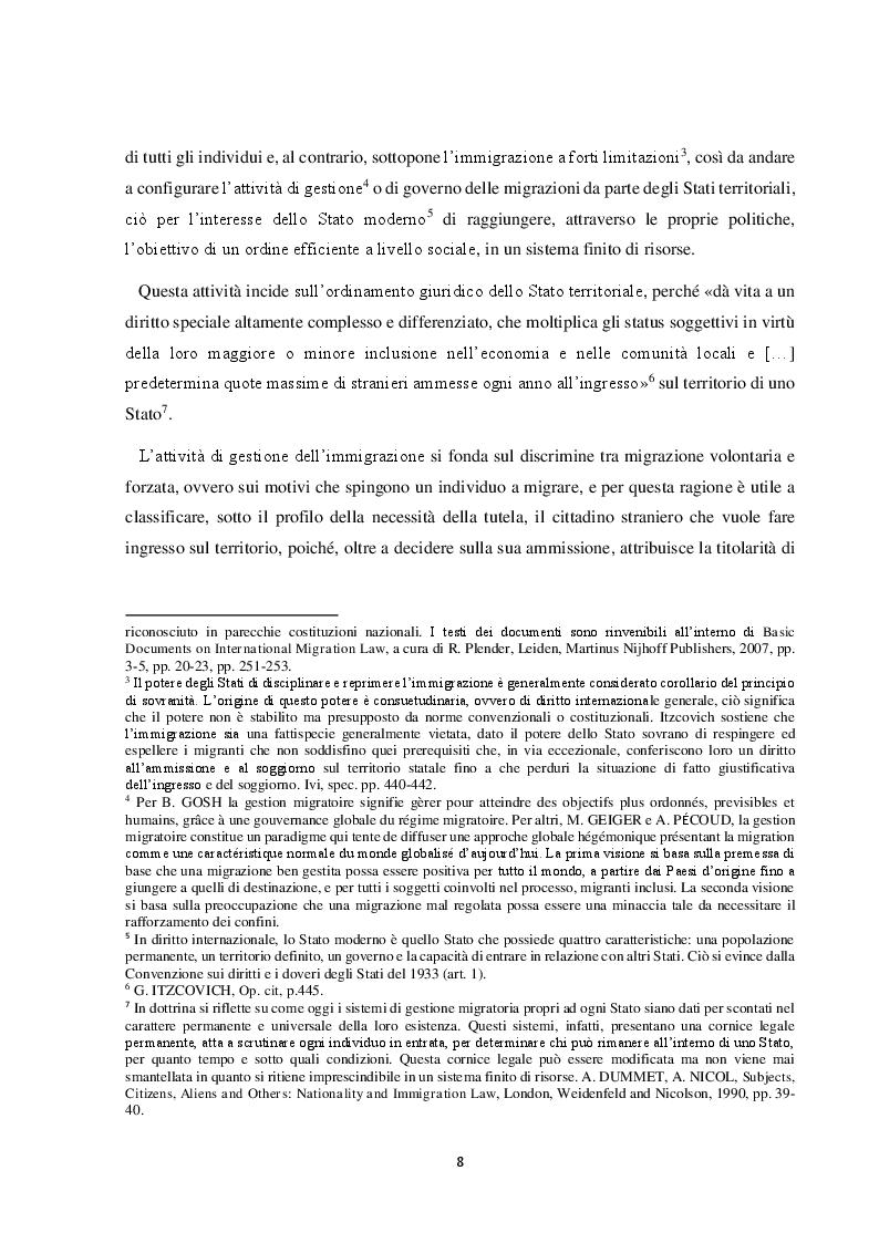 Anteprima della tesi: Il Friuli Venezia Giulia e l'attuazione della normativa dell'UE in tema di accoglienza ed integrazione dei migranti, alla luce della ripartizione delle competenze tra Stato e Regioni, Pagina 9