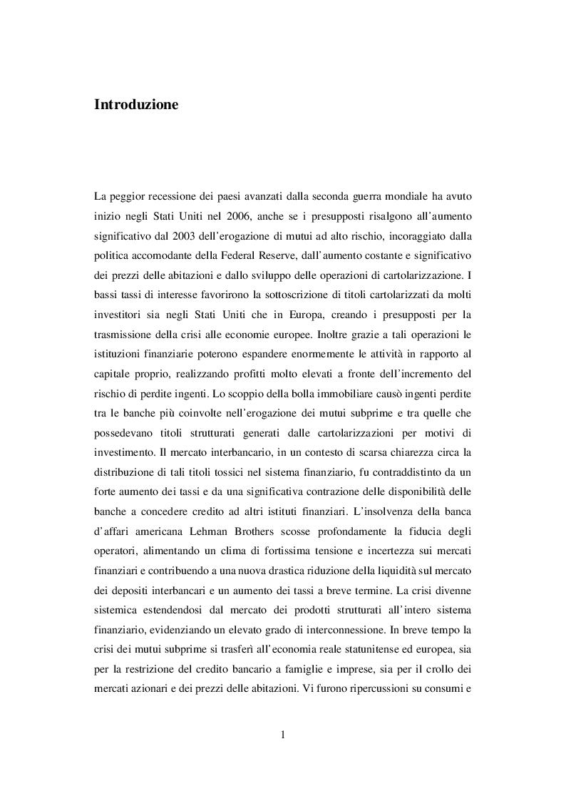Anteprima della tesi: I Sistemi di Rating Interni: Il caso UBI Banca, Pagina 2