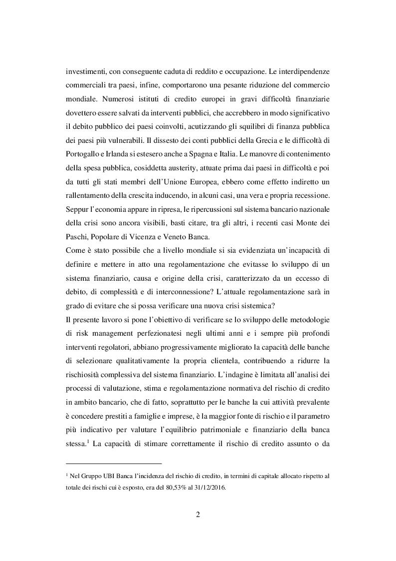 Anteprima della tesi: I Sistemi di Rating Interni: Il caso UBI Banca, Pagina 3