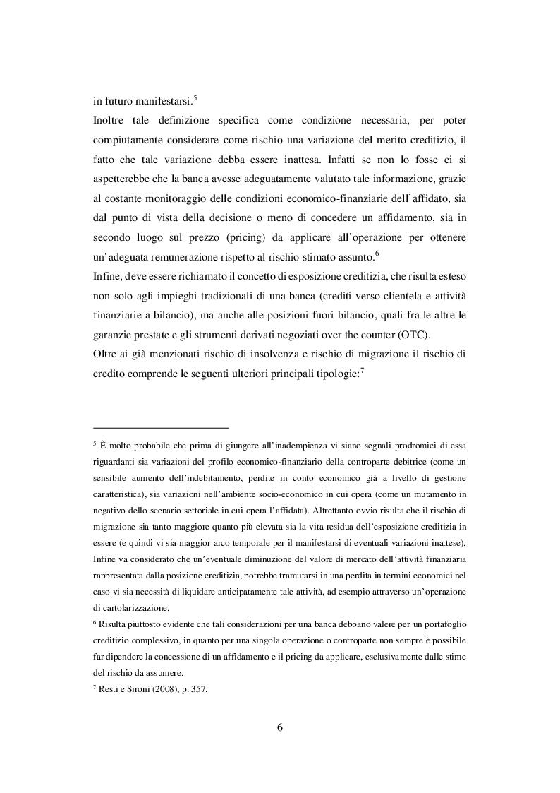 Anteprima della tesi: I Sistemi di Rating Interni: Il caso UBI Banca, Pagina 7