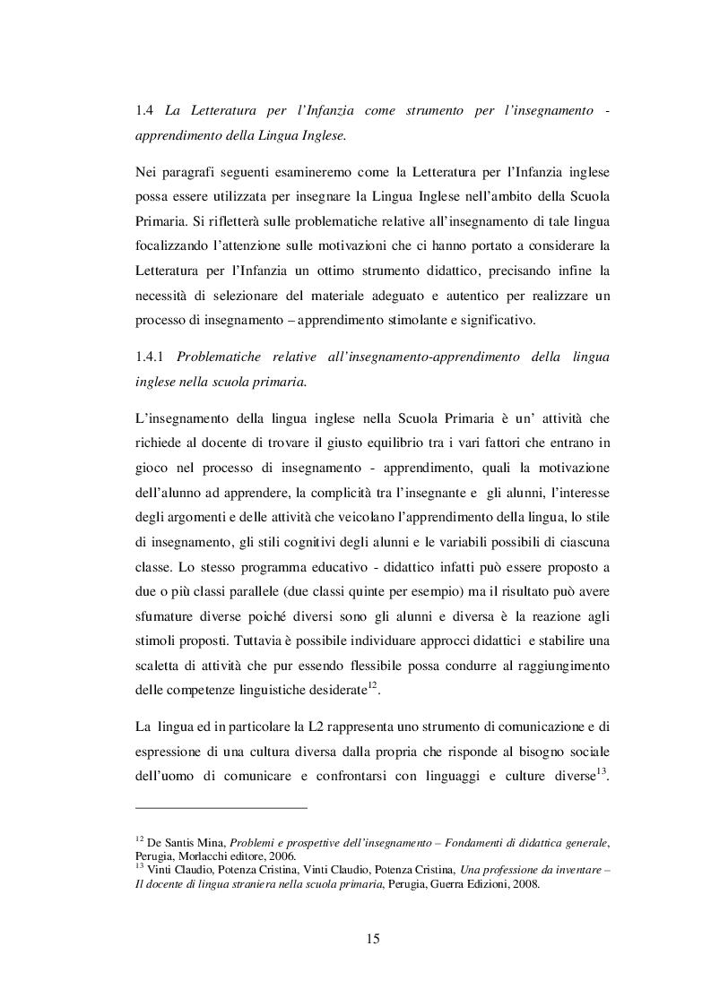Estratto dalla tesi: INSEGNARE E APPRENDERE L'INGLESE CON UN RACCONTO DI ROALD DAHL. Un progetto didattico per la scuola primaria