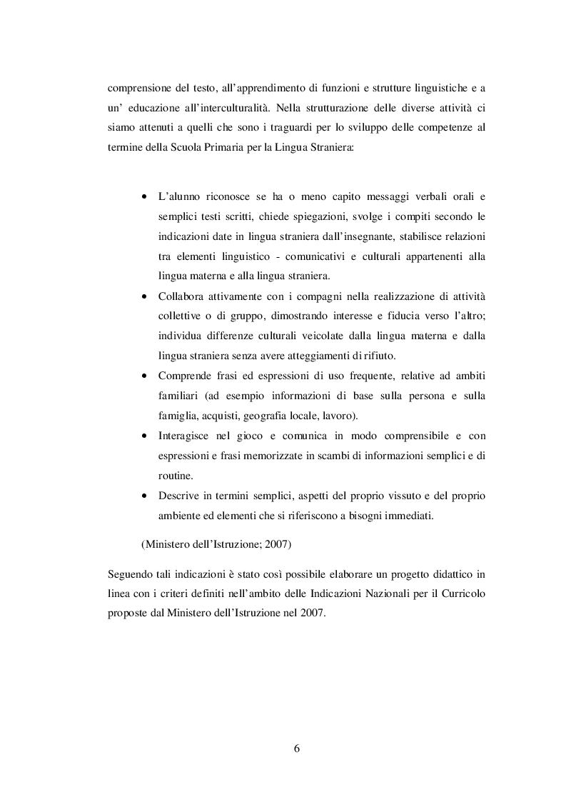 Anteprima della tesi: INSEGNARE E APPRENDERE L'INGLESE CON UN RACCONTO DI ROALD DAHL. Un progetto didattico per la scuola primaria, Pagina 4