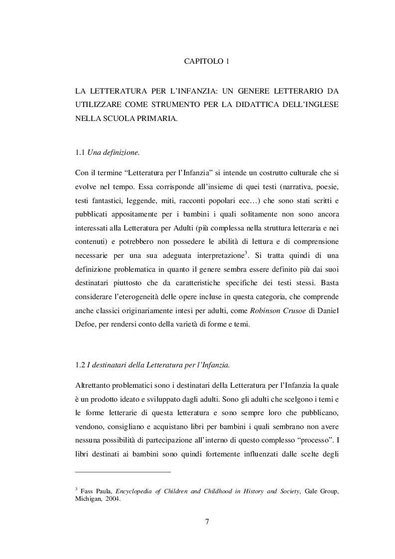 Anteprima della tesi: INSEGNARE E APPRENDERE L'INGLESE CON UN RACCONTO DI ROALD DAHL. Un progetto didattico per la scuola primaria, Pagina 5