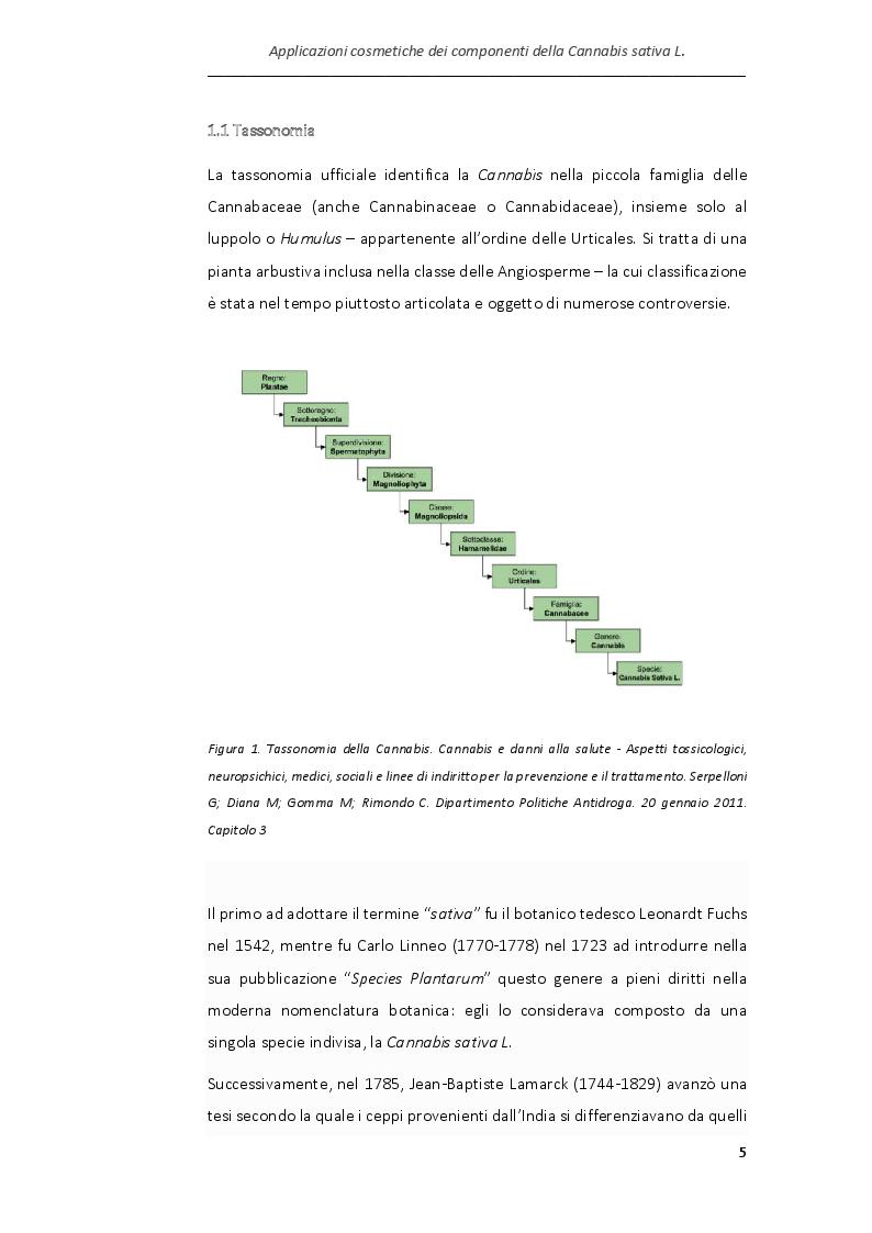 Anteprima della tesi: Applicazioni cosmetiche dei componenti della Cannabis sativa, Pagina 2
