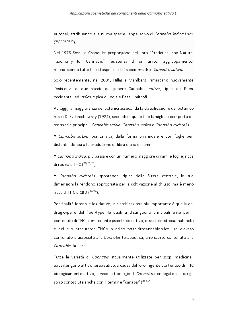 Anteprima della tesi: Applicazioni cosmetiche dei componenti della Cannabis sativa, Pagina 3