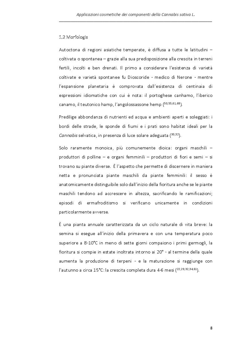 Anteprima della tesi: Applicazioni cosmetiche dei componenti della Cannabis sativa, Pagina 5