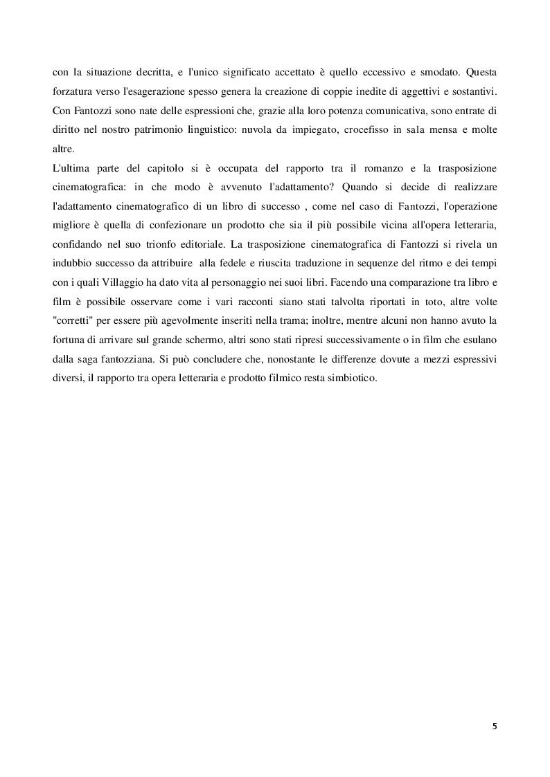 Anteprima della tesi: Viaggio all'interno della maschera comica: il linguaggio di Fantozzi, Pagina 4
