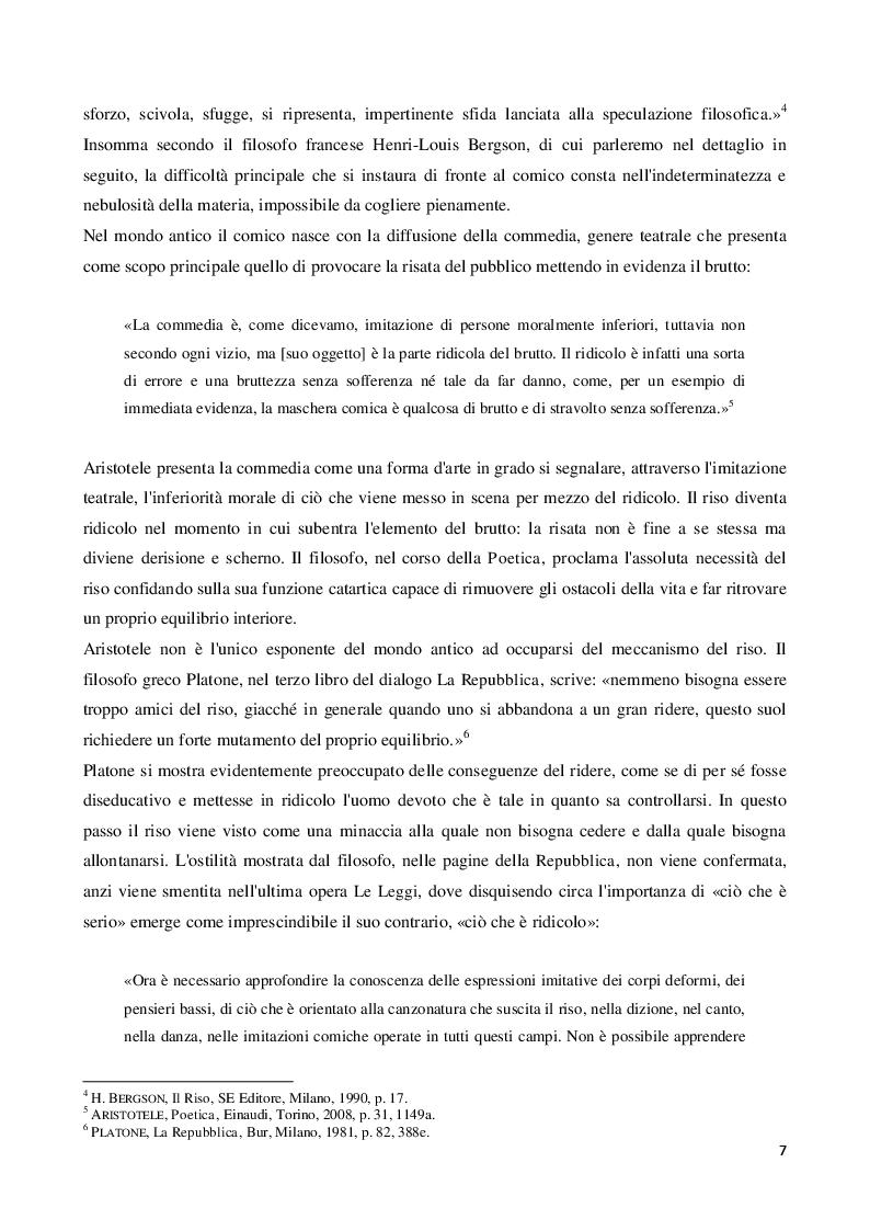 Anteprima della tesi: Viaggio all'interno della maschera comica: il linguaggio di Fantozzi, Pagina 6