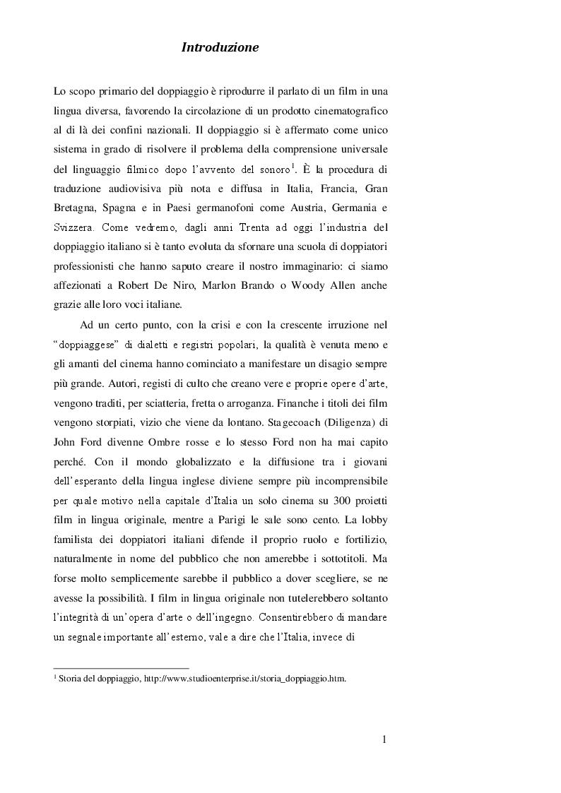 Anteprima della tesi: DOPPIAGGIO O SOTTOTITOLAZIONE - Una scelta nell'apprendimento delle lingue straniere, Pagina 2