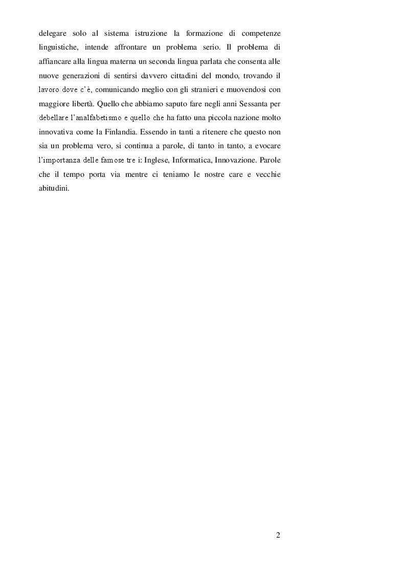 Anteprima della tesi: DOPPIAGGIO O SOTTOTITOLAZIONE - Una scelta nell'apprendimento delle lingue straniere, Pagina 3