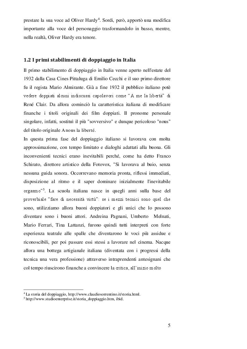 Anteprima della tesi: DOPPIAGGIO O SOTTOTITOLAZIONE - Una scelta nell'apprendimento delle lingue straniere, Pagina 6