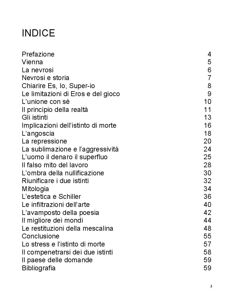 Indice della tesi: Il guscio della libertà, Pagina 1