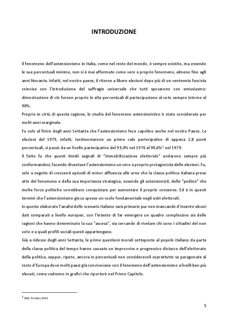 Anteprima della tesi: L'astensionismo in Italia: chi sono i cittadini del non voto, Pagina 2