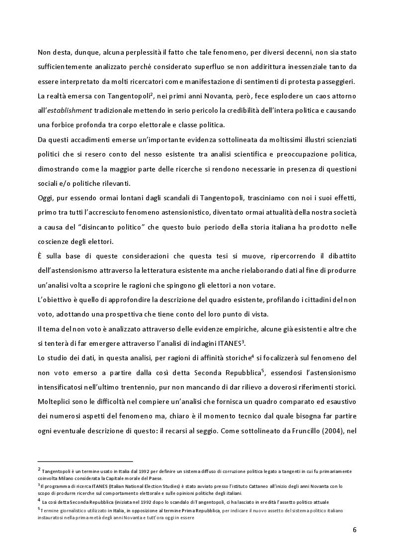 Anteprima della tesi: L'astensionismo in Italia: chi sono i cittadini del non voto, Pagina 3