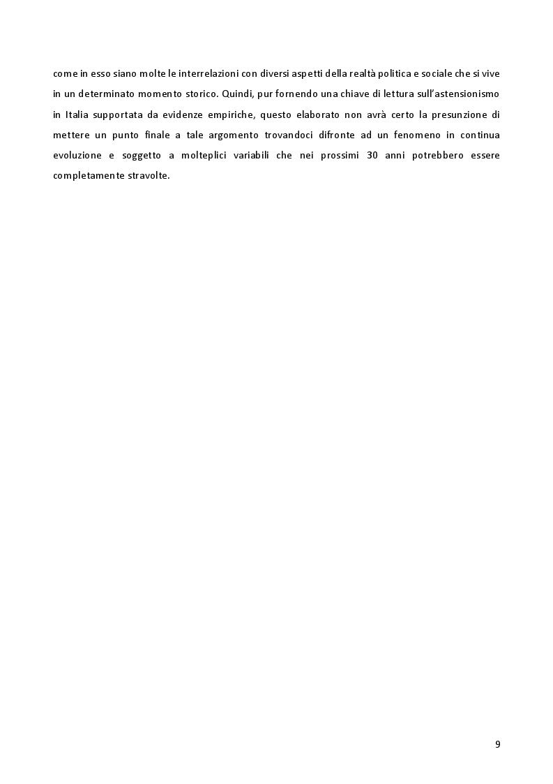 Anteprima della tesi: L'astensionismo in Italia: chi sono i cittadini del non voto, Pagina 6