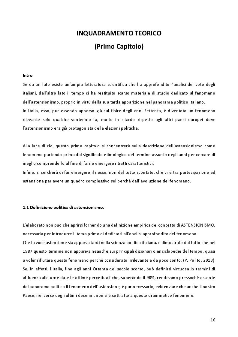 Anteprima della tesi: L'astensionismo in Italia: chi sono i cittadini del non voto, Pagina 7