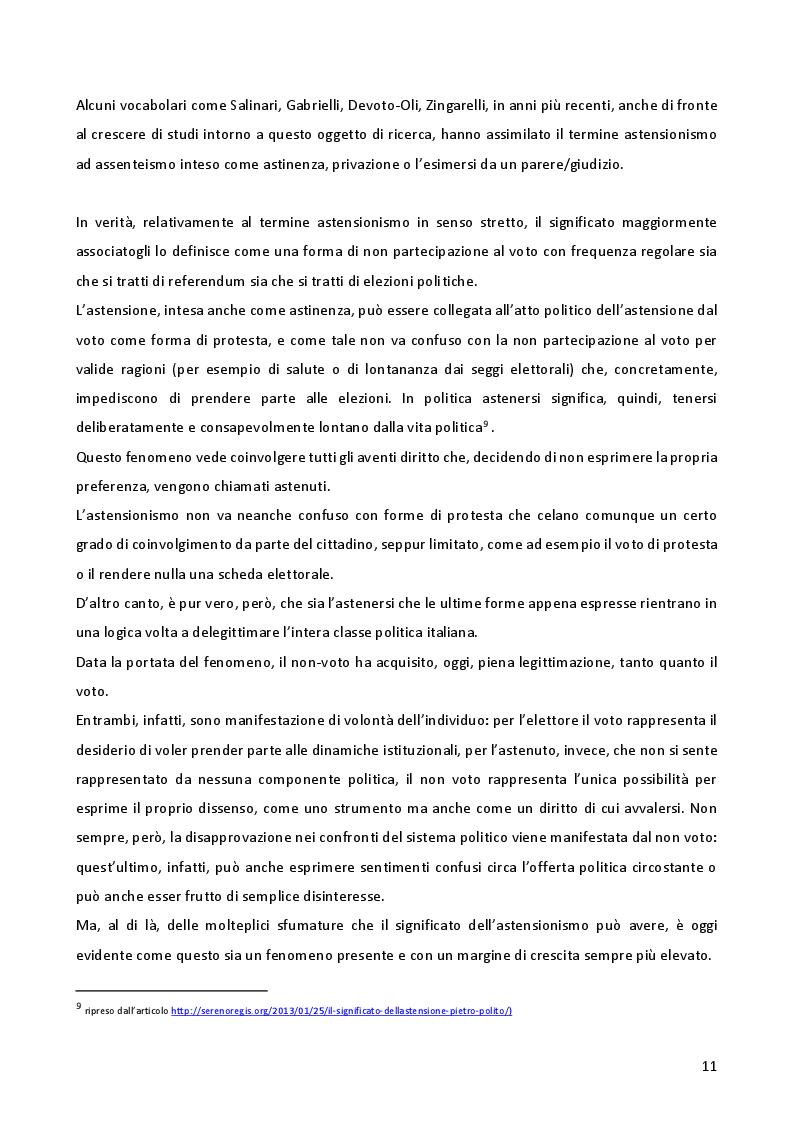 Anteprima della tesi: L'astensionismo in Italia: chi sono i cittadini del non voto, Pagina 8