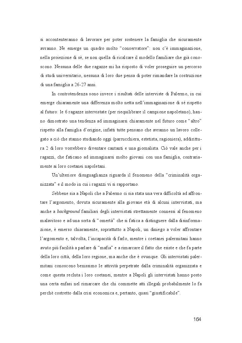 Anteprima della tesi: La dispersione Scolastica nei quartieri più critici di Napoli e Palermo: quando l'istruzione può rappresentare la cura al suo stesso malessere, Pagina 5