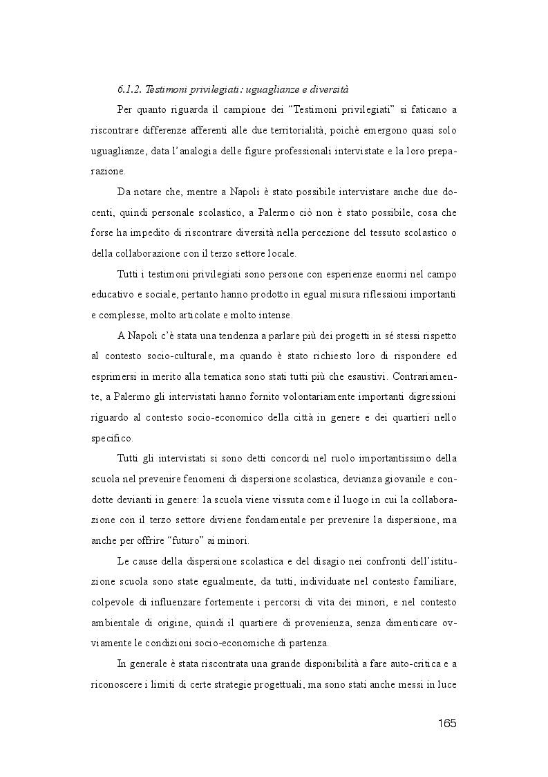 Anteprima della tesi: La dispersione Scolastica nei quartieri più critici di Napoli e Palermo: quando l'istruzione può rappresentare la cura al suo stesso malessere, Pagina 6