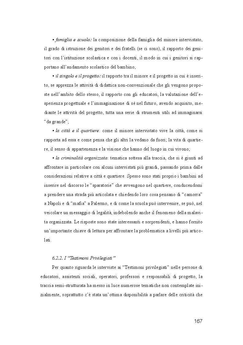 Anteprima della tesi: La dispersione Scolastica nei quartieri più critici di Napoli e Palermo: quando l'istruzione può rappresentare la cura al suo stesso malessere, Pagina 8