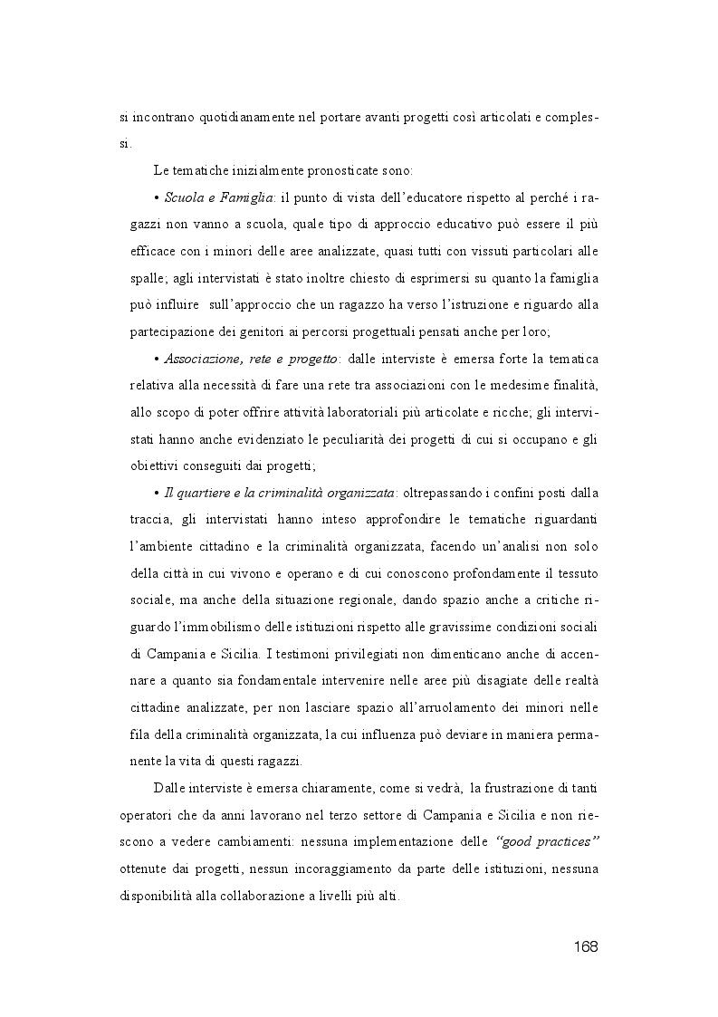 Anteprima della tesi: La dispersione Scolastica nei quartieri più critici di Napoli e Palermo: quando l'istruzione può rappresentare la cura al suo stesso malessere, Pagina 9