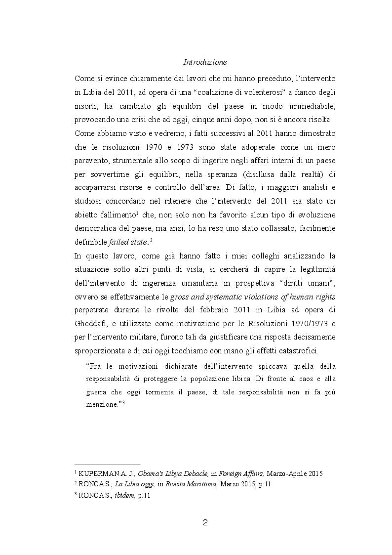 Anteprima della tesi: Diritto internazionale e geopolitica: teoria e prassi dell'ingerenza umanitaria, Pagina 2