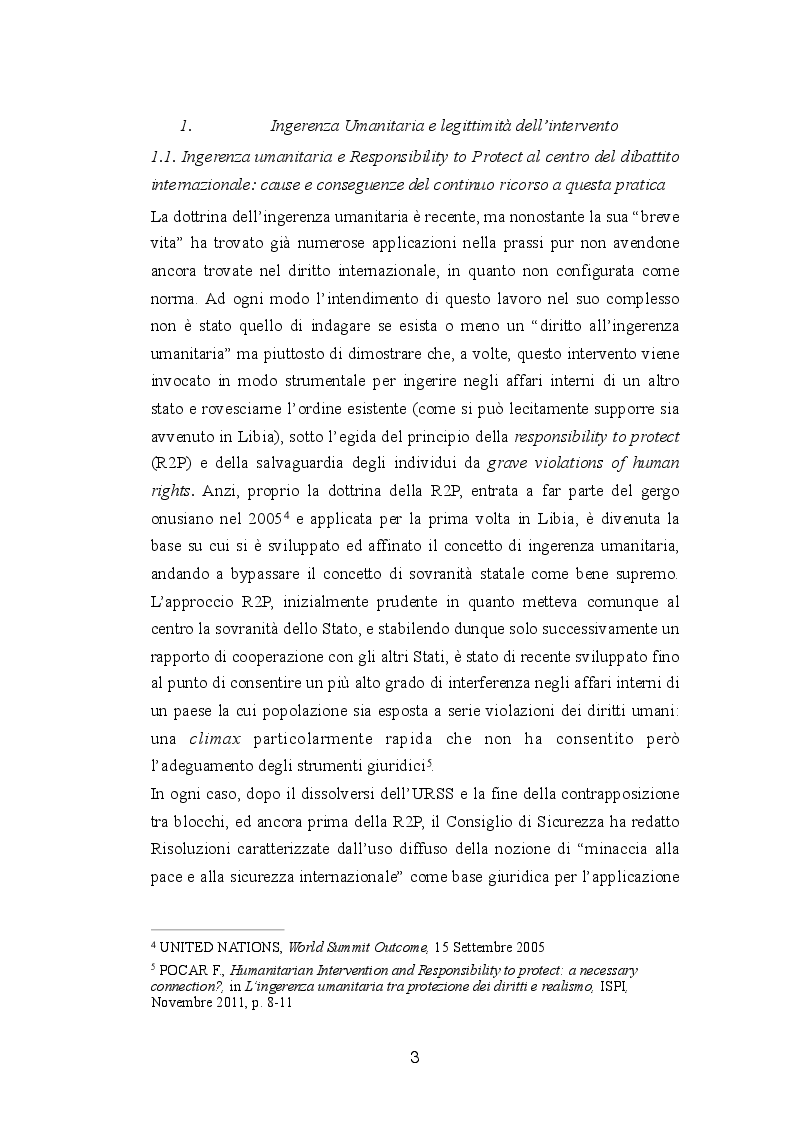 Anteprima della tesi: Diritto internazionale e geopolitica: teoria e prassi dell'ingerenza umanitaria, Pagina 3