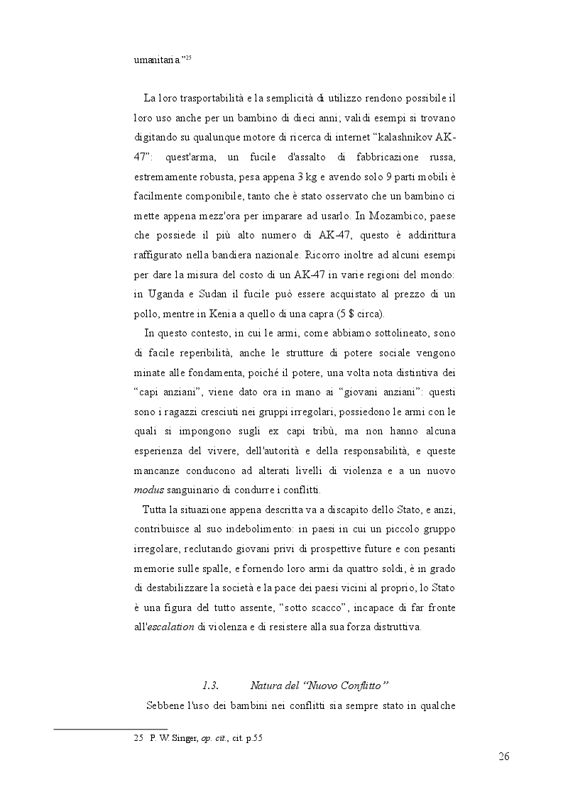 """Anteprima della tesi: Bambini Soldato: L'infanzia violata. Fenomenologia del problema globale dei """"Child Soldiers"""", Pagina 7"""