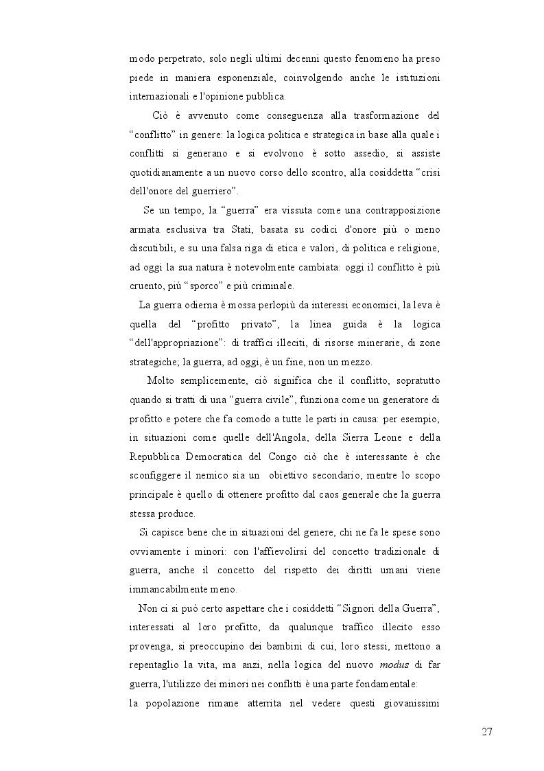 """Anteprima della tesi: Bambini Soldato: L'infanzia violata. Fenomenologia del problema globale dei """"Child Soldiers"""", Pagina 8"""