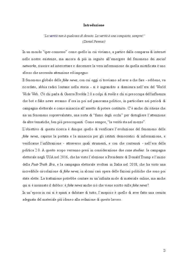 Anteprima della tesi: Fake News: una minaccia per la democrazia liberale e per il dibattito politico, Pagina 2