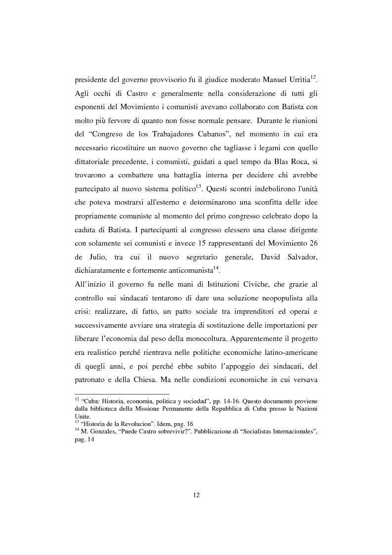 Anteprima della tesi: Cuba: quarant'anni di socialismo reale e prospettive per il futuro, Pagina 10
