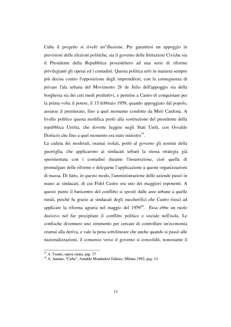 Anteprima della tesi: Cuba: quarant'anni di socialismo reale e prospettive per il futuro, Pagina 11