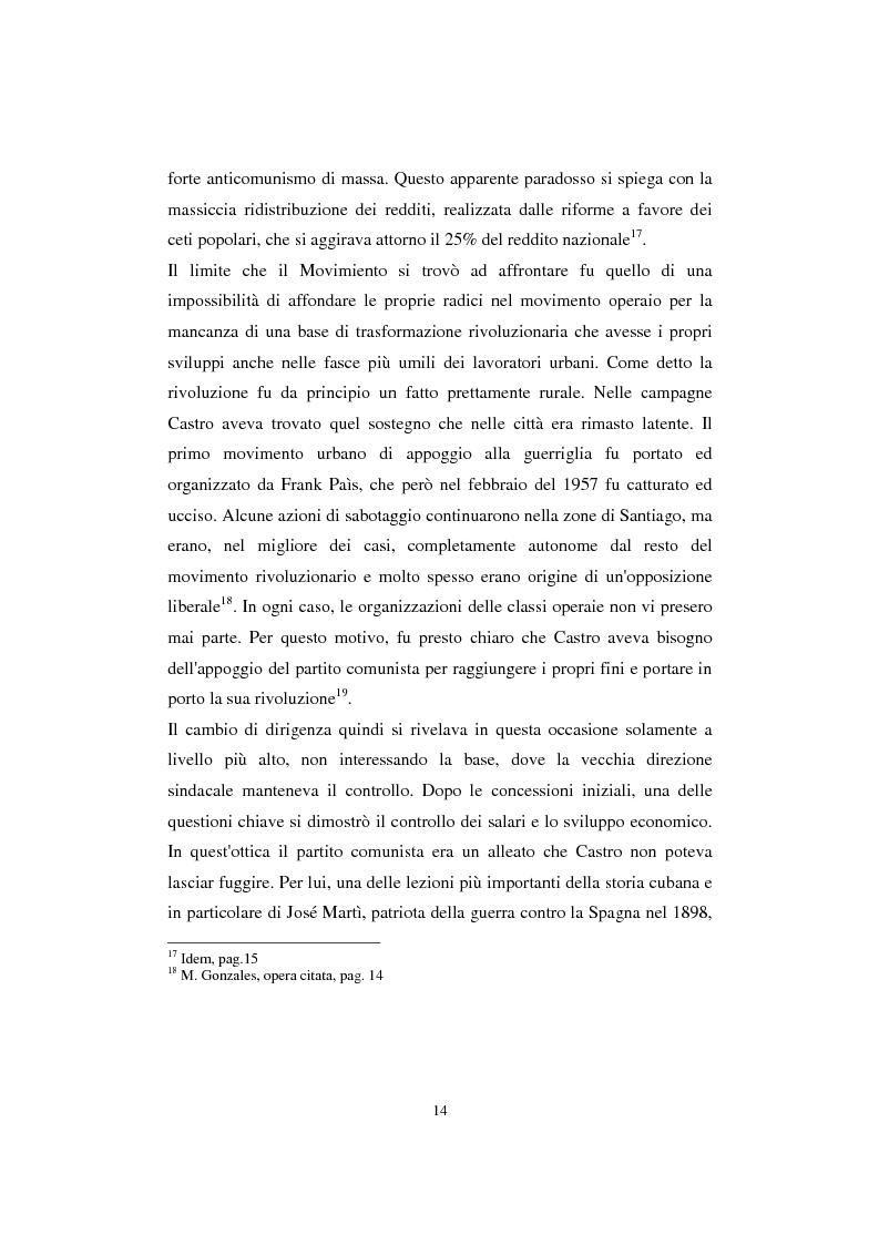 Anteprima della tesi: Cuba: quarant'anni di socialismo reale e prospettive per il futuro, Pagina 12