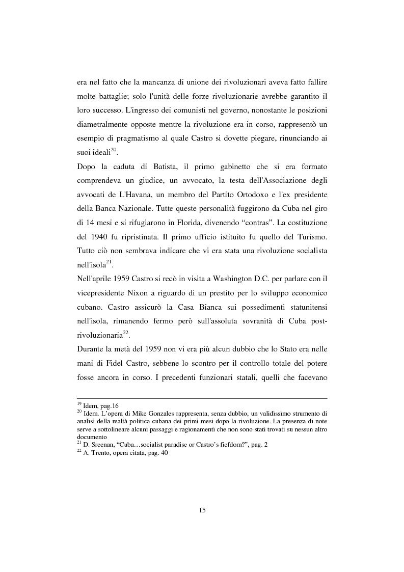 Anteprima della tesi: Cuba: quarant'anni di socialismo reale e prospettive per il futuro, Pagina 13