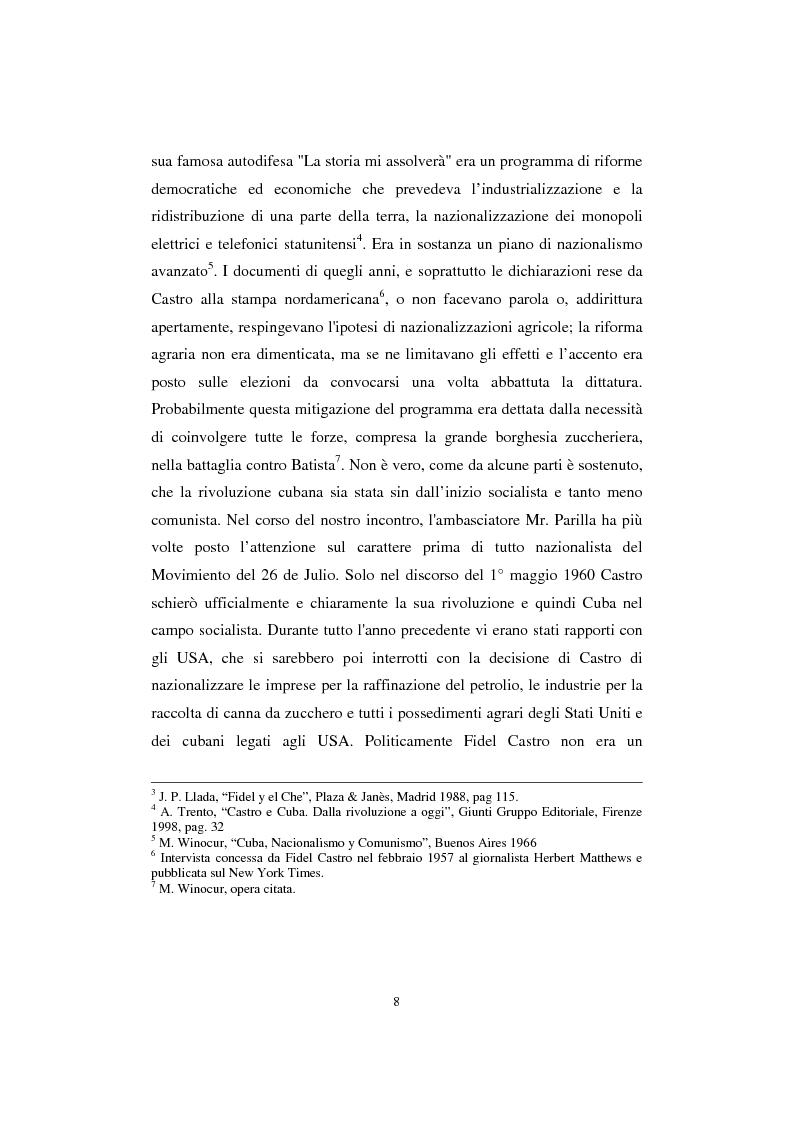 Anteprima della tesi: Cuba: quarant'anni di socialismo reale e prospettive per il futuro, Pagina 6