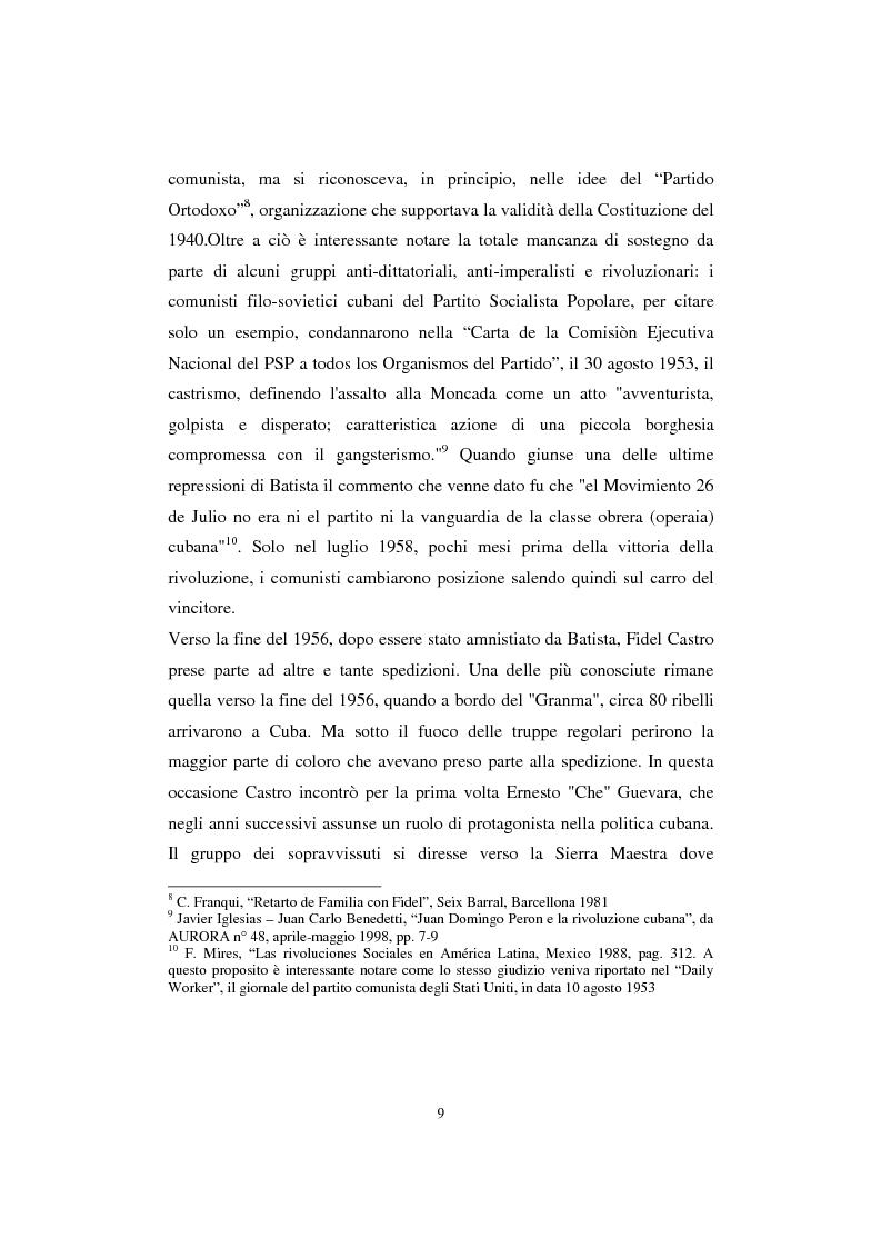 Anteprima della tesi: Cuba: quarant'anni di socialismo reale e prospettive per il futuro, Pagina 7
