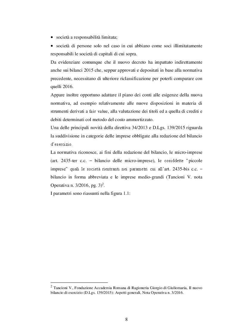 Anteprima della tesi: La nuova disciplina del bilancio civilistico alla luce delle novità introdotte dal D.Lgs. 139/2015, Pagina 6