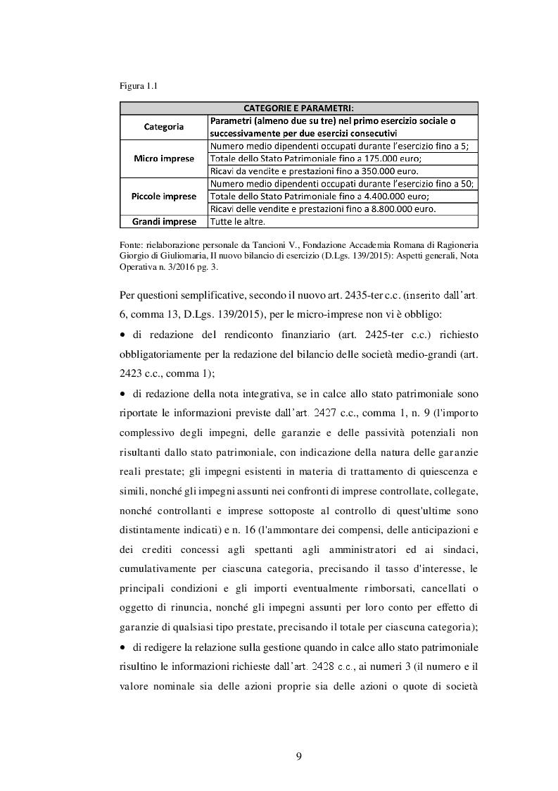 Anteprima della tesi: La nuova disciplina del bilancio civilistico alla luce delle novità introdotte dal D.Lgs. 139/2015, Pagina 7