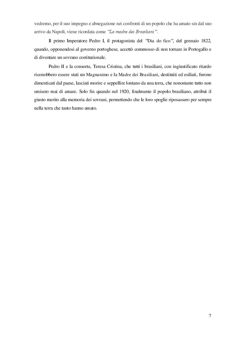Anteprima della tesi: L'Impero del Brasile: una Monarchia americana, Pagina 4