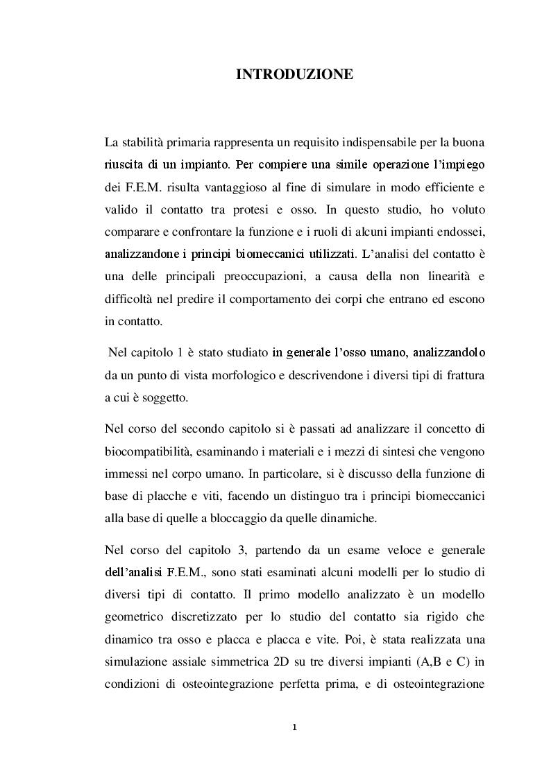 Anteprima della tesi: Analisi dei modelli per l'analisi del contatto fra osso e protesi, Pagina 2